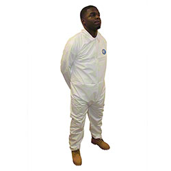 Impact® ProMax® Long Sleeve Zipper Front White Coverall - Large