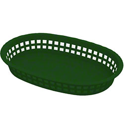 Impact® Round End Rectangle Food Basket - Green