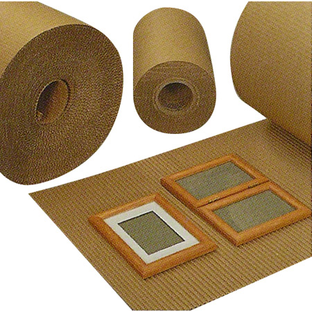 """Ivex Singleface A-Flute Corrugated Roll - 12"""" x 250'"""
