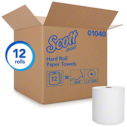 "Scott® Hard Roll Towel - 8"" x 800', White"