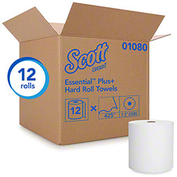 "Scott® Essential Plus Hard Roll Towel - 8"" x 425', White"