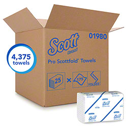 Scott® Scottfold® M Towel - White