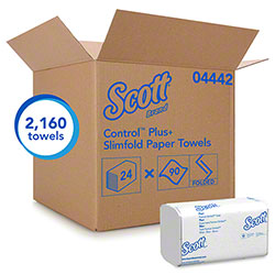 "Scott® Control™ Plus+ Slimfold Towel-7.5"" x 11.6"",White"