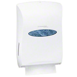 KC Windows® Univeral Folded Towel Dispenser - Pearl White