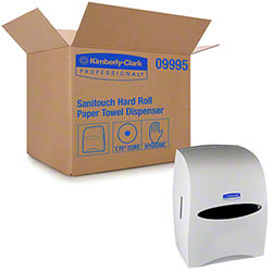 KC SaniTouch® Hard Roll Towel Dispenser - White