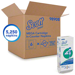 "Scott® Mega Cartridge Napkin - 6.5"" x 8.4"""