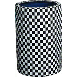 Kwik-Can Covers™ - 55 Gal., Black & White Check