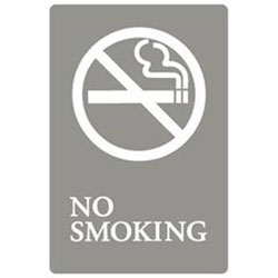 6x9 Ada Sign| No Smok -gy/we