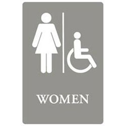 6x9 Ada Sign| Women H Icap-gy/we