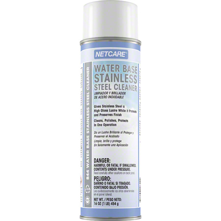 Netcare® Water Base Stainless Steel Cleaner - 16 oz Net Wt