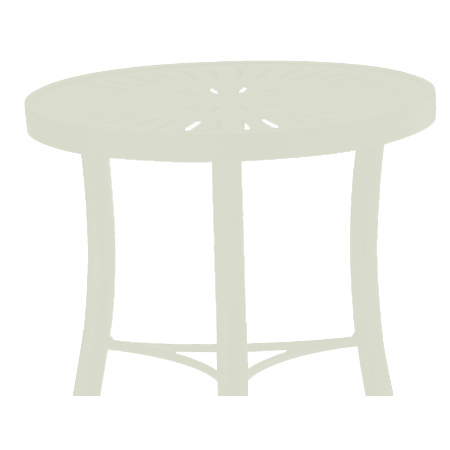 Tropitone Side Table Shell Cushioned Poolside Seating
