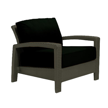 Tropitone Open Arm Black Cushioned Poolside Seating