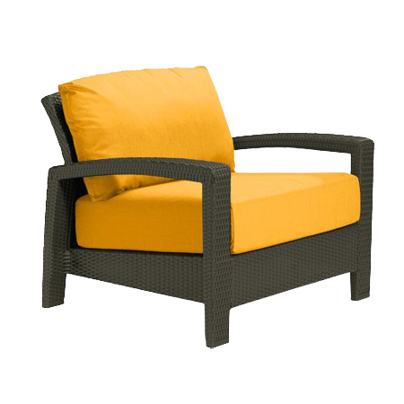 Tropitone Open Arm Yellow Cushioned Poolside Seating
