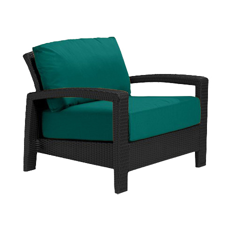 Tropitone Open Arm Teal Cushioned Poolside Seating
