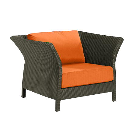 Tropitone Side Arm Tangerine Cushioned Poolside Seating