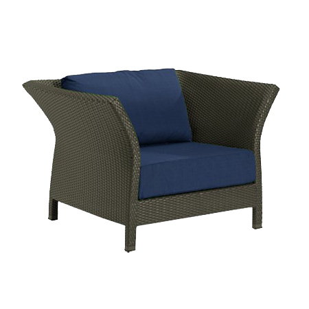 Tropitone Side Arm Navy Cushioned Poolside Seating