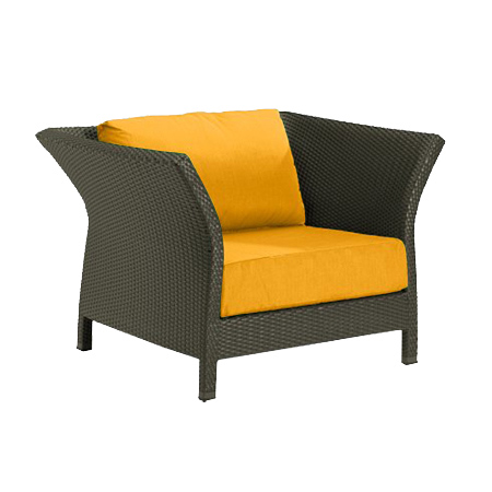 Tropitone Side Arm Yellow Cushioned Poolside Seating