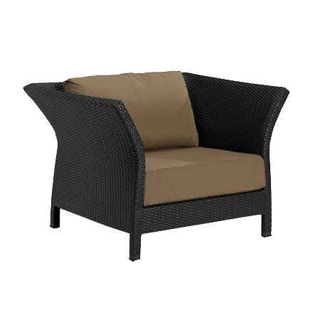 Tropitone Side Arm Camel Cushioned Poolside Seating