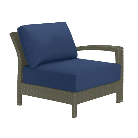 Tropitone Left Arm Navy Cushioned Poolside Seating