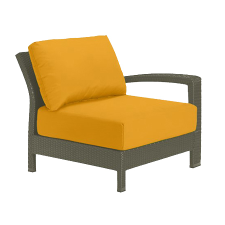 Tropitone Left Arm Yellow Cushioned Poolside Seating