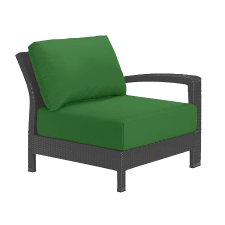 Tropitone Left Arm Palm Cushioned Poolside Seating