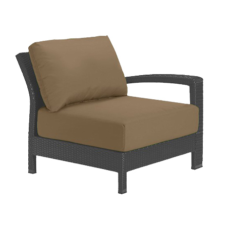 Tropitone Left Arm Camel Cushioned Poolside Seating