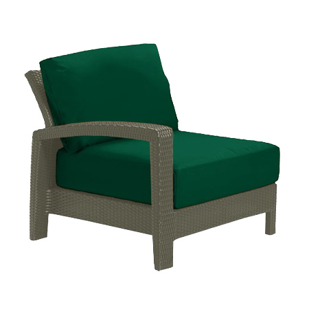 Tropitone Right Arm FrstGrn Cushioned Poolside Seating