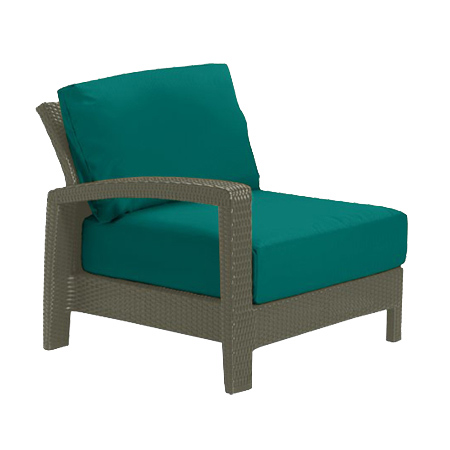 Tropitone Right Arm Teal Cushioned Poolside Seating