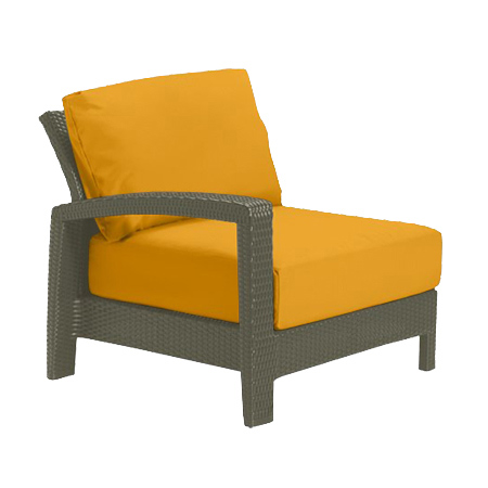 Tropitone Right Arm Yellow Cushioned Poolside Seating