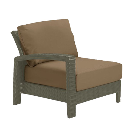 Tropitone Right Arm Camel Cushioned Poolside Seating