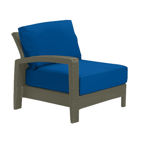Tropitone Right Arm Blue Cushioned Poolside Seating