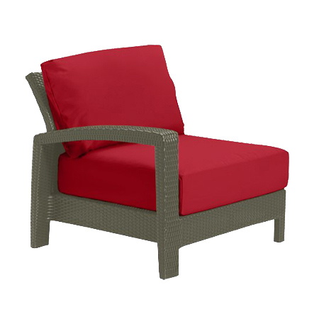 Tropitone Right Arm Red Cushioned Poolside Seating