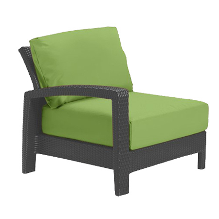 Tropitone Right Arm Parrot Cushioned Poolside Seating