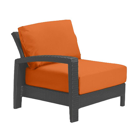 Tropitone Right Arm Tangerine Cushioned Poolside Seating