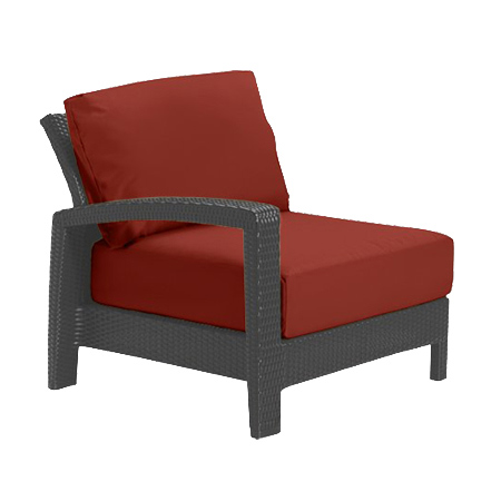 Tropitone Right Arm Brick Cushioned Poolside Seating