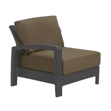 Tropitone Right Arm Cocoa Cushioned Poolside Seating