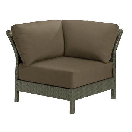 Tropitone Corner Seat Cocoa Cushioned Poolside Seating