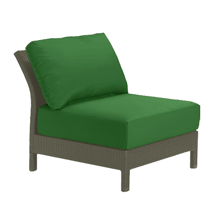 Tropitone Armless Seat Palm Cushioned Poolside Seating
