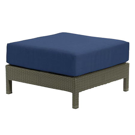Tropitone Ottoman Navy Cnvs Cushioned Poolside Seating