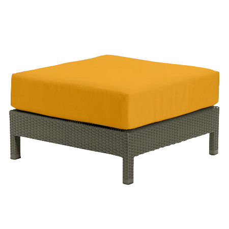 Tropitone Ottoman Yellow Cnvs Cushioned Poolside Seating