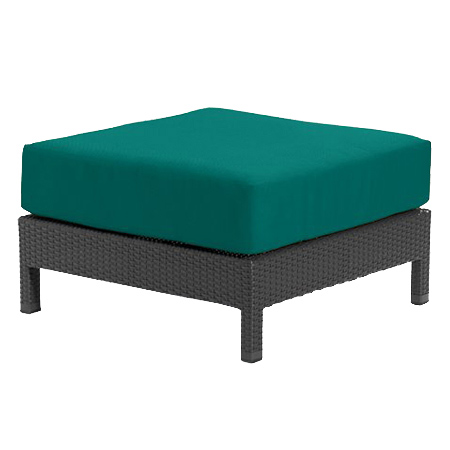 Tropitone Ottoman Teal Cnvs Cushioned Poolside Seating