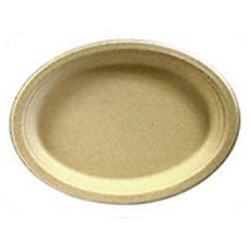 """Plates, Compostable - 7"""" x 10"""" Oval Platter"""