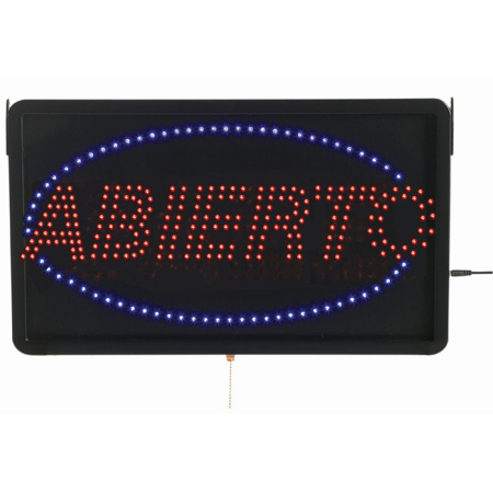 Aarco ABI08L High Visibility LED ABIERTO Sign