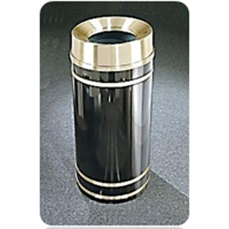 Glaro Monte Carlo Trash Receptacle - Brass, 16 Gallon