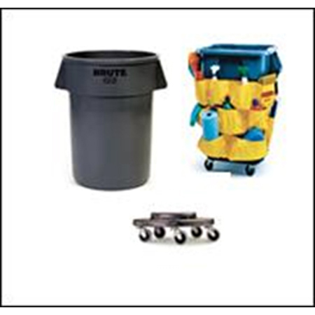 Brute Trash Can Discounted Combo Kit, 44 Gallon