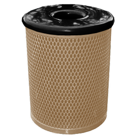 Classic Style 32 Gal. Trash Receptacle - Clay