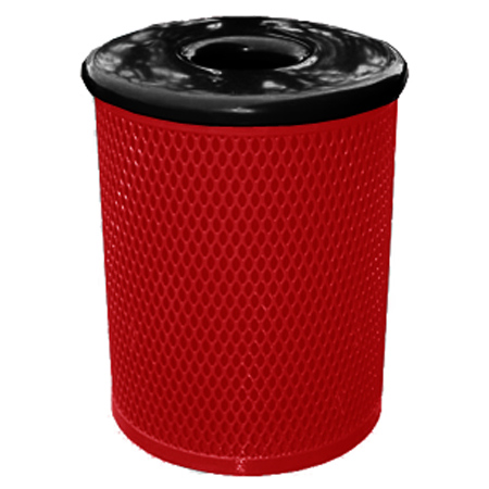Classic Style 32 Gal. Trash Receptacle - Red
