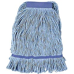 "Wet Mop, Large Blended Mop, Blue w/1"" Band"