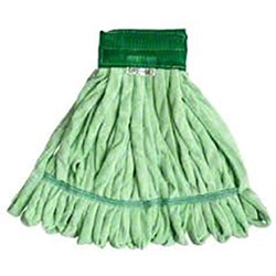 Microfiber Tube Mop Head, Green Medium Head