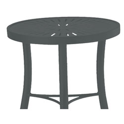 Tropitone Side Table Graphite Cushioned Poolside Seating